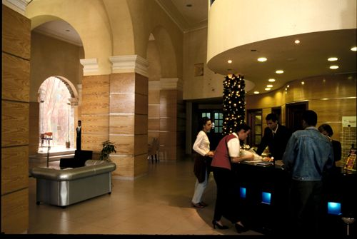 'Hotel Telegrafo front desk' Check our website Cuba Travel Hotels .com often for updates.